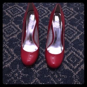Jessica Simpson Red Patent Leather Pumps!
